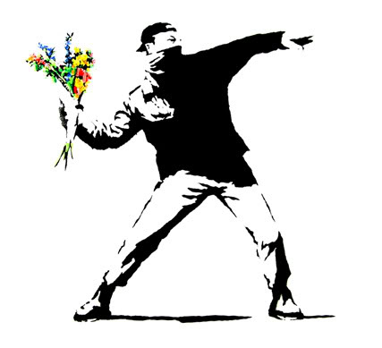 Say it with flowers Banksy
