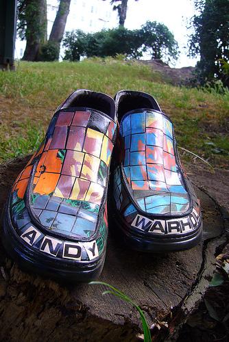 Andy Warhol shoe garden